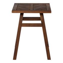 Walker Edison - Windsor Acacia Wood Outdoor Side Table - Dark Brown