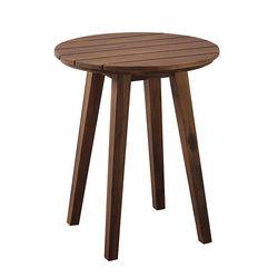 Walker Edison - Camden Acacia Wood Outdoor Side Table - Dark Brown