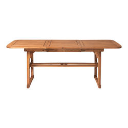 Walker Edison - Cypress Acacia Wood Outdoor Dining Table - Brown