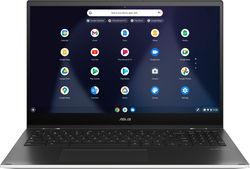 "ASUS - 2-in-1 15.6"" Touch-Screen Chromebook - Intel Core 11th Gen i3 - 8GB Memory - 128GB SSD - Matte White - Matte White"