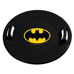 Slippery Racer - Downhill Pro Batman Plastic Saucer Disc Snow Sled - Black