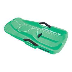 Slippery Racer - Downhill Thunder Kids Toddler Plastic Toboggan Snow Sled - Green