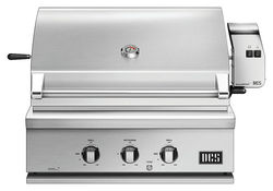 """DCS by Fisher & Paykel - Traditional 30"""" Built-In Gas Grill - Brushed Stainless Steel"""