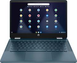 "HP - 14"" 2-In-1 Touchscreen Chromebook - Intel Pentium Silver - 4GB Memory - 64GB eMMC - Spruce Blue"