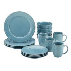 Rachael Ray - Cucina 16-Piece Ceramic Dinnerware Set - Agave Blue
