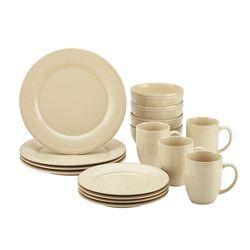 Rachael Ray - Cucina 16-Piece Ceramic Dinnerware Set - Almond Cream