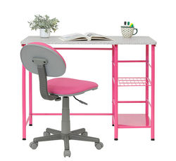 Calico Designs - Study Zone II Student Desk and Task Chair 2 Piece Set - Pink