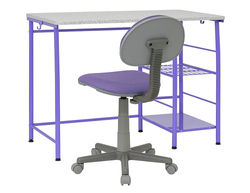 Calico Designs - Study Zone II Student Desk and Task Chair 2 Piece Set - Purple