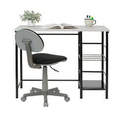 Calico Designs - Study Zone II Student Desk and Task Chair 2 Piece Set - Black