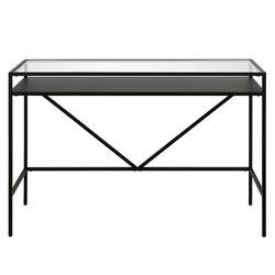 """Camden&Wells - Baird 46"""" Desk with Metal Shelf - Blackened Bronze"""