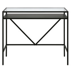 """Camden&Wells - Baird 36"""" Desk with Metal Shelf - Blackened Bronze"""