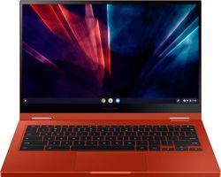 "Samsung - Geek Squad Certified Refurbished Galaxy Chromebook 2 - 13.3"" QLED Touch-Screen - Intel Core i3 - 8GB Memory - 128GB eMMC - Fiesta Red"