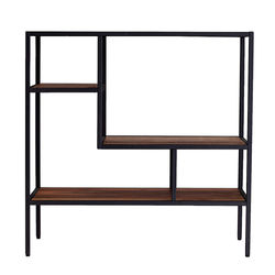 Southern Enterprises - SEI Mathry Reclaimed Wood Shelf - Natural and gray finish