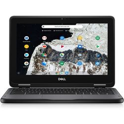 "Dell - Chromebook 11 3000 11.6"" Chromebook - Intel Celeron - 4 GB Memory - 16 GB eMMC - Gray"