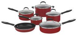 Cuisinart - Advantage 11-Piece Cookware Set - Red