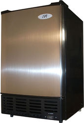 """SPT - 15"""" 12-Lb. Freestanding Icemaker - Stainless steel"""
