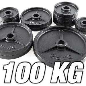Megafitness Shop Vorteilspaket! Hantelscheibenset 100 KG - Guss 50 mm - Sortierung frei wählbar!