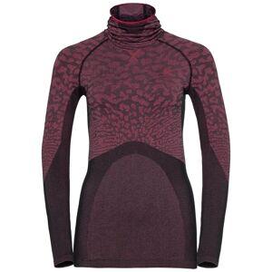 Odlo Damen BLACKCOMB Funktionsunterwäsche Langarm-Shirt mit Gesichtsmaske, female, black - cerise - cerise, XS