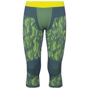 Odlo Herren BLACKCOMB Funktionsunterwäsche 3/4 Hose, male, bering sea - safety yellow (neon) - safety yellow (neon), XL
