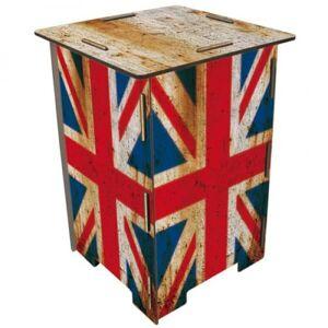 WERKHAUS® Hocker »Werkhaus - Hocker Kinderhocker Sitzmöbel Tritt, Holz, Flagge England«