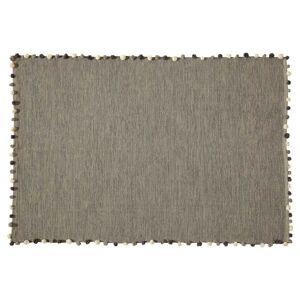 Maisons du Monde Alfombra gris de algodón 120x180