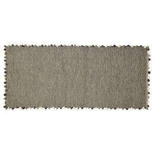 Maisons du Monde Alfombra gris de algodón 80x200