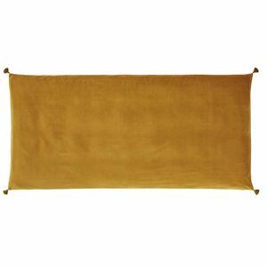 Maisons du Monde Funda para colchón de suelo en terciopelo de algodón ocre 90 x 190 cm