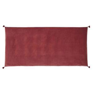 Maisons du Monde Funda para colchón de suelo en terciopelo de algodón terracota 90 x 190 cm