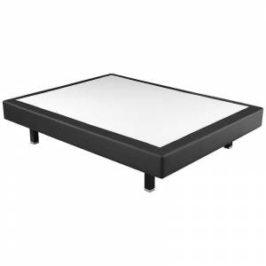 PIKOLIN Canapé colchón fijo tela poli-piel altura 17 cm Negro - 80x200cm