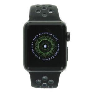 Apple Watch Series 2 aluminio gris oscuro 38mm con Nike+ pulsera deportiva negro/gris aluminio gris oscuro - Reacondicionado: buen estado 30 meses