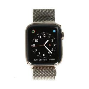 Apple Watch Series 4 acero inoxidable dorado 44mm con pulsera Milanesa dorado (GPS + Cellular) acero inoxidable dorado - Reacondicionado: muy bueno