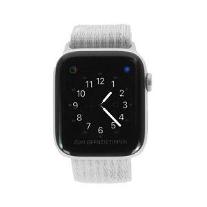 Apple Watch Series 4 Nike+ aluminio plateado 44mm con pulsera deportiva Loop blanco (GPS) plateado - Reacondicionado: muy bueno 30 meses de garantía