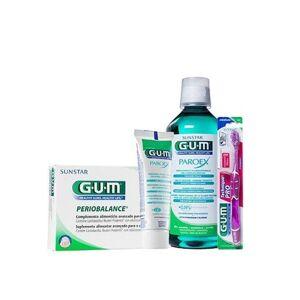 Gum ® Periobalance 30uds + colutorio 500ml + pasta 75ml + cepillo Technique Pro 1ud