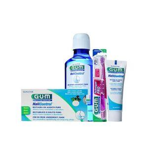 Gum ® Halicontrol 10 tabletas + colutorio 300ml + gel dental 75ml + cepillo 1ud