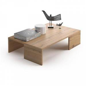 Mobili Fiver Mesa de centro, modelo Rachele, color Madera Rústica