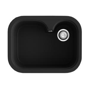 Poalgi Fregadero de 1 cuba negro 635 x 490mm Rubi Basic Poalgi