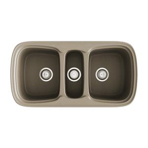 Poalgi Fregadero de 3 cubas Albero 975 x 505mm Onice Basic Poalgi