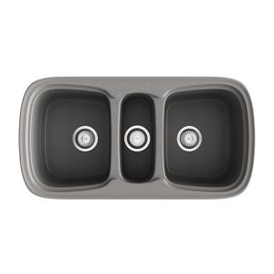 Poalgi Fregadero de 3 cubas Concret 975 x 505mm Onice Basic Poalgi