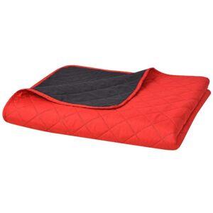 VidaXL Cubrecama acolchado doble cara 220x240 rojo y negro Vida XL