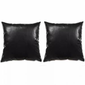 VidaXL Cojines de poliuretano negros 45x45 2 unidades Vida XL