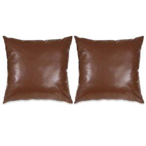 VidaXL Cojines de poliuretano marrón 45x45 2 unidades Vida XL