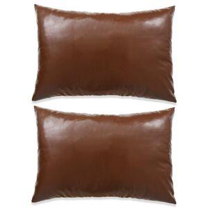 VidaXL Cojines de polieuretano marrón 40x60 2 unidades Vida XL