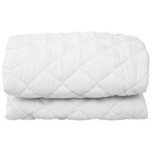 VidaXL Protector de colchón acolchado ligero blanco 120x200cm Vida XL