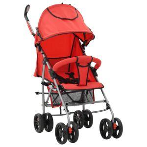 VidaXL Cochecito sillita paseo de bebé 2 en 1 rojo acero Vida XL