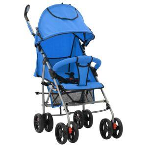 VidaXL Cochecito sillita paseo de bebé 2 en 1 azul acero Vida XL