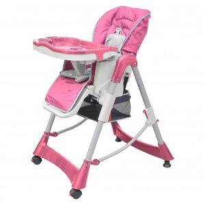 VidaXL Trona de bebé Deluxe de altura ajustable rosa Vida XL
