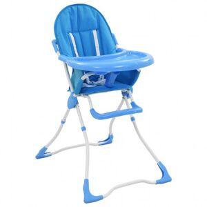 VidaXL Trona de bebé azul y blanco Vida XL
