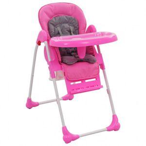 VidaXL Trona de bebé rosa y gris Vida XL