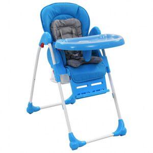 VidaXL Trona de bebé azul y gris Vida XL