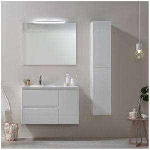 Royo® Mueble de baño con lavabo cerámico Blanco brillo 90cm Alfa Royo